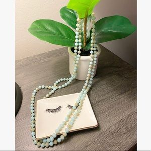 Boutique, green, beaded necklace!